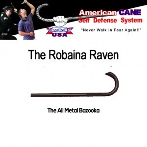 The Robaina Raven All Metal Self Defense Cane