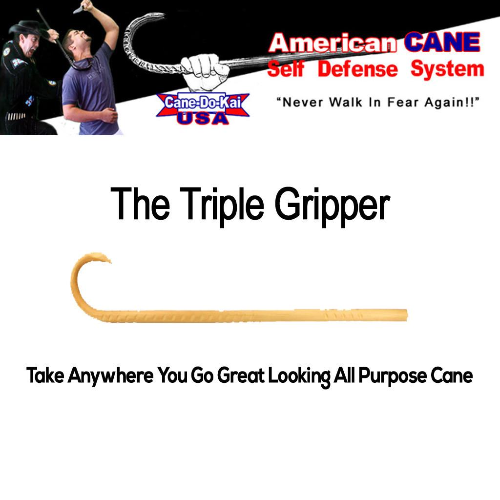 ACSD Triple Gripper Self Defense Cane