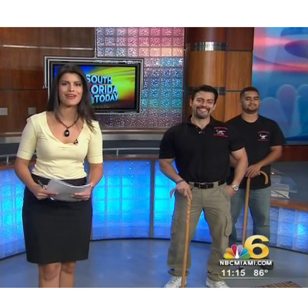 american cane self defense joe robaina on nbc 4 miami