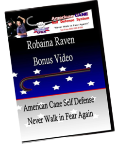 robaina raven self defense cane instructional video