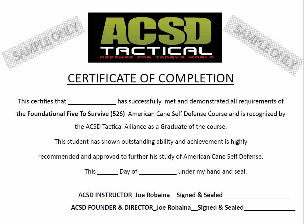 Cane Self Defense Instructor Certification - American Cane ...